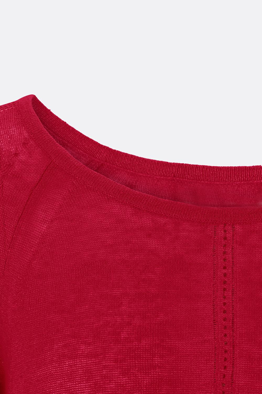 Leinen Ajour-Pullover