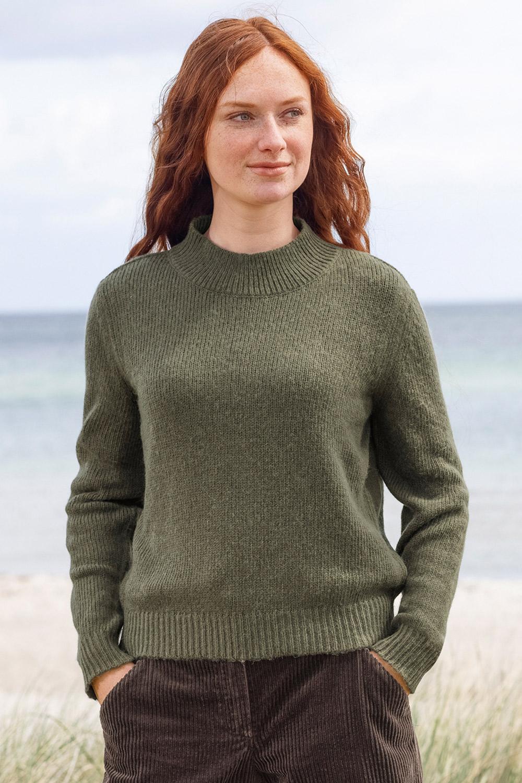 Stehkragen Pullover mit Alpaka-Anteil