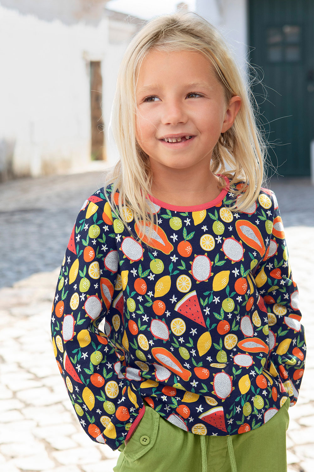 Jerseybluse Obst