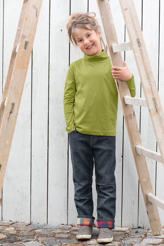 Jeans mit Karofutter