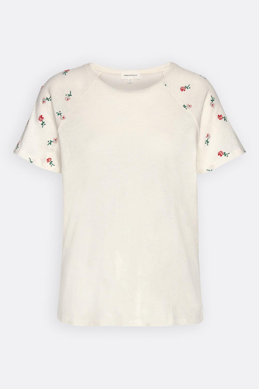 Baumwoll/Leinen Shirt Blüten