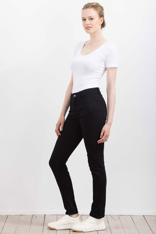 Deep Black Denim Jeans