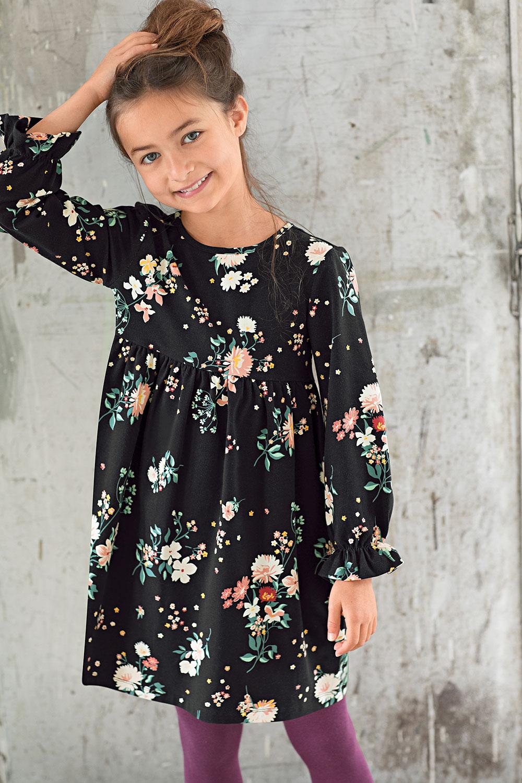 Jerseykleid Herbstblumen