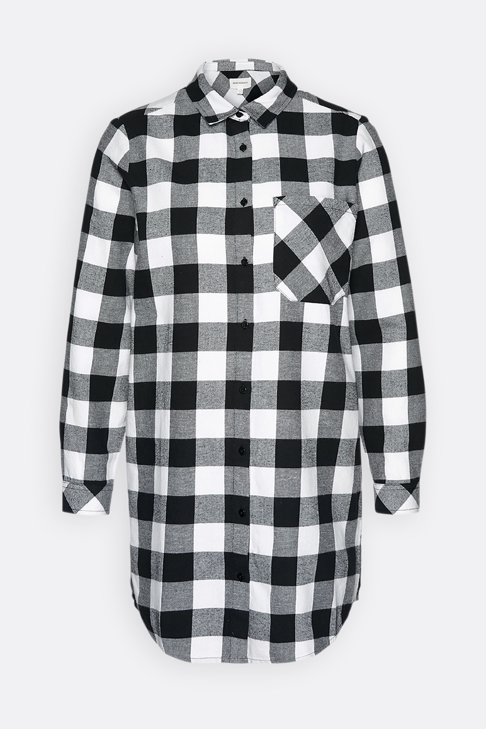 Flanell Longbluse