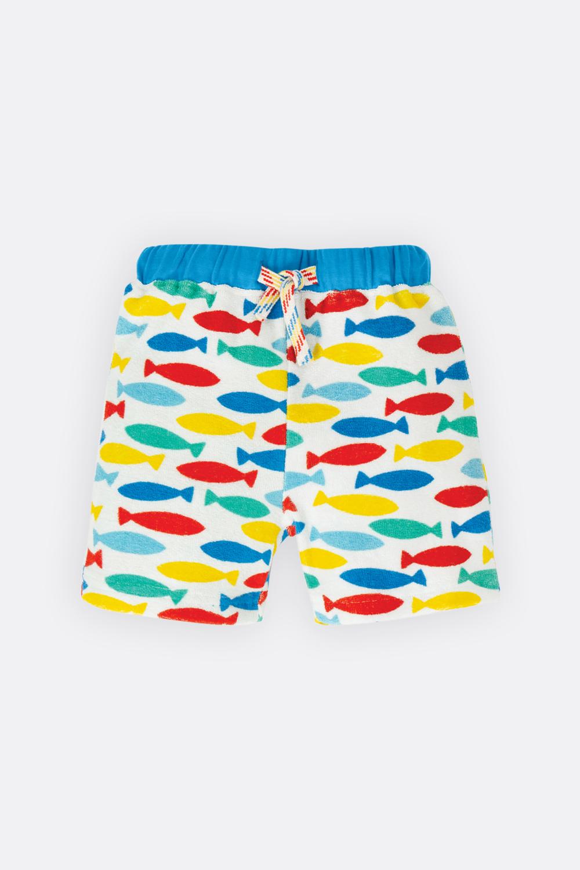 Frottee-Shorts Fische