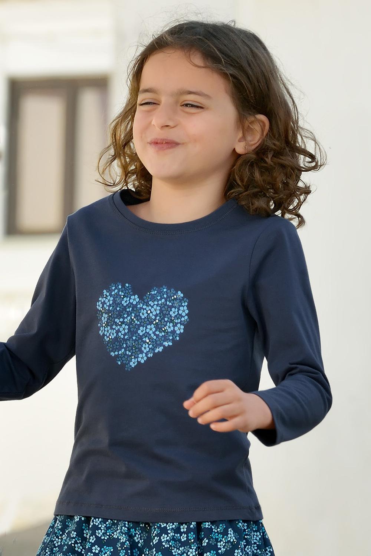 Mädchen-Langarmshirt Frontprint