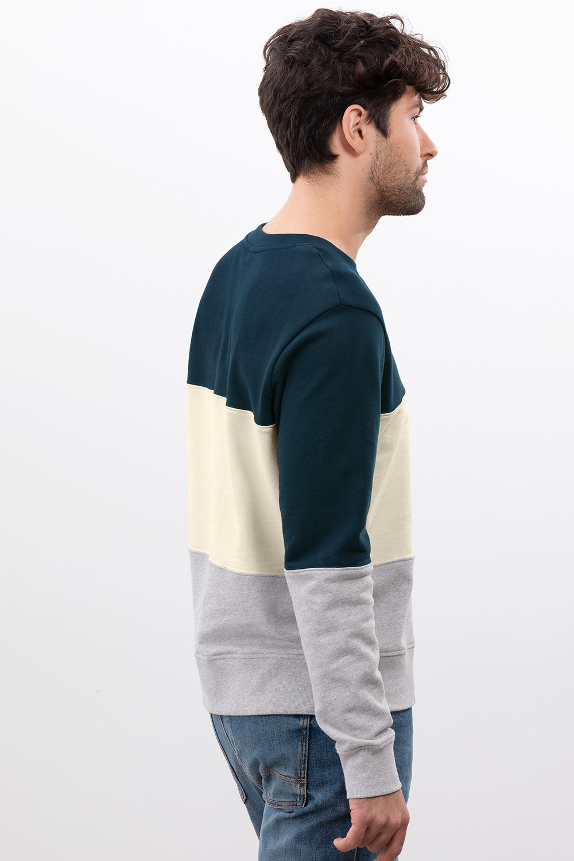 Herren Sweatshirt Colourblocking