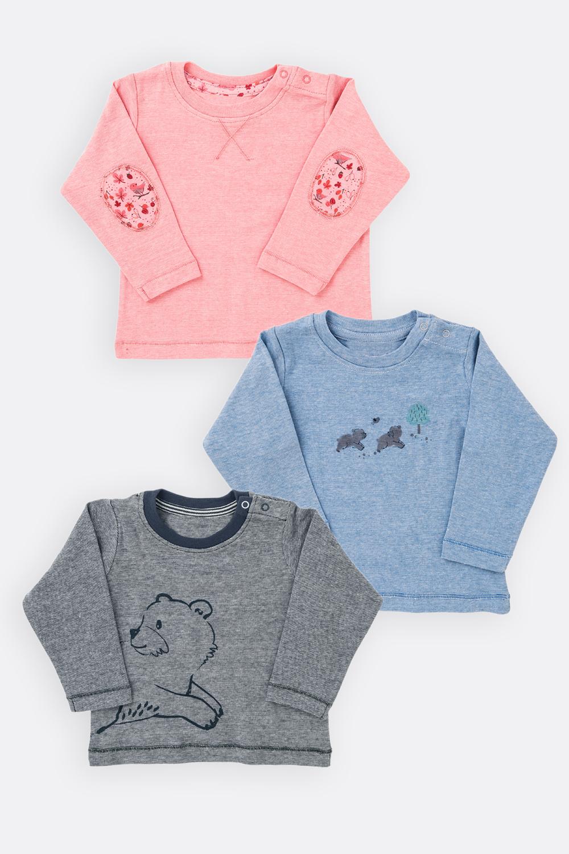 Langarm-Shirt, melange