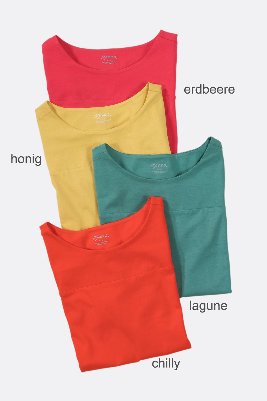 Shirt mit Querpasse