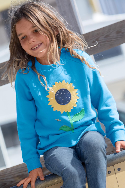 Raglansweater Wal/Blume