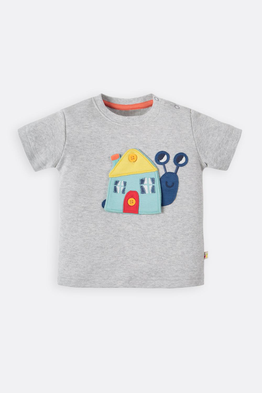 Shirt Schnecke mit 3 Wechsel-Häuschen