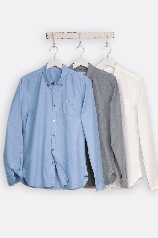 Herren Chambray-Hemd