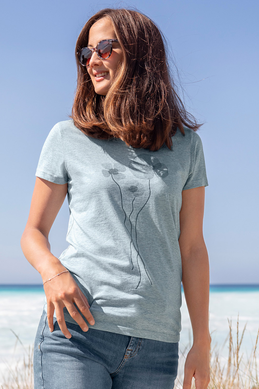 T-Shirt Mohnblumen