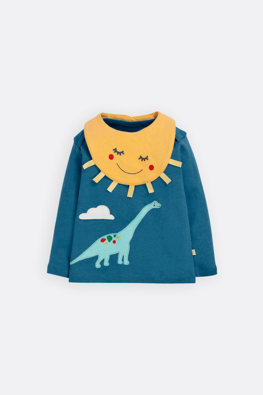 Set Shirt Dino + Lätzchen Sonne