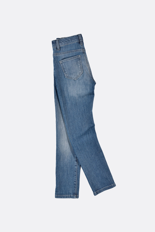 Jeans mit Pünktchenprint