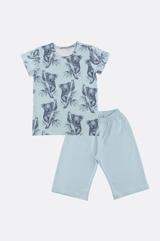 Kurzer Schlafanzug Muscheln/Koala
