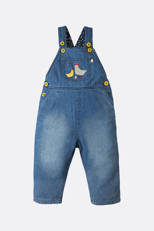 Gefütterte Jeans-Latzhose Huhn