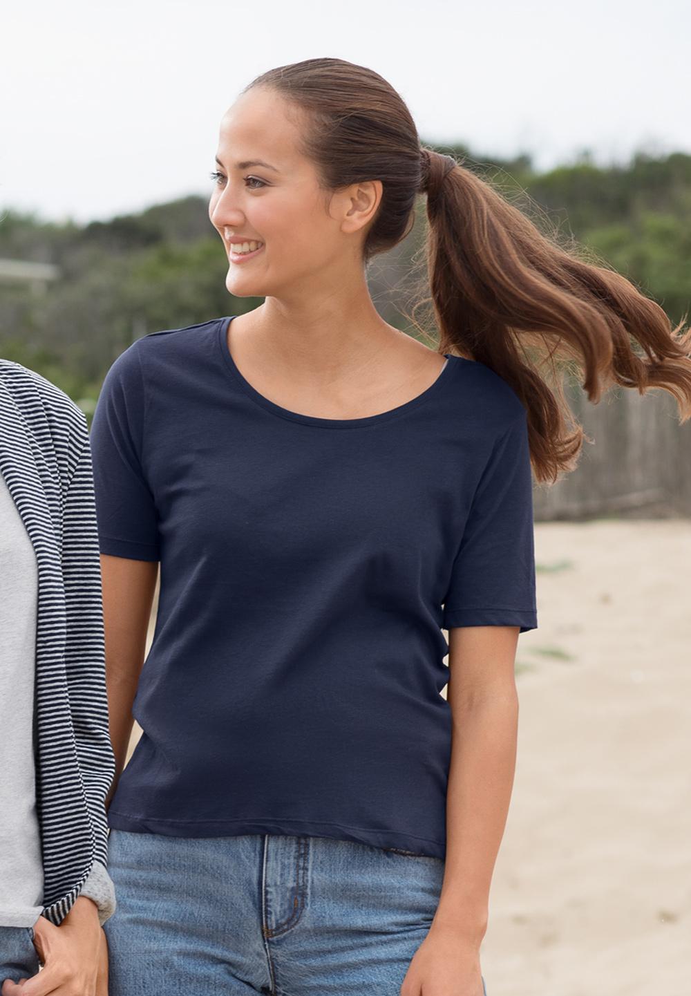 Basic Viertelarmshirt