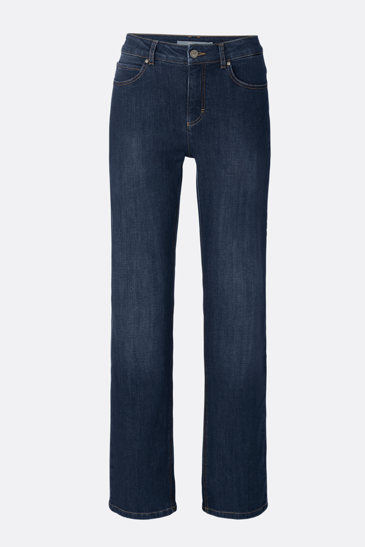 Basic Jeans mit geradem Bein