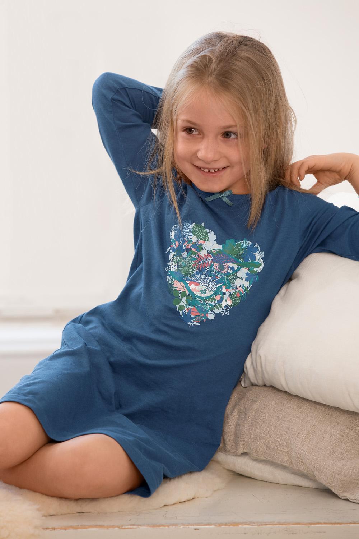 Mädchen Nachthemd Vogelherz