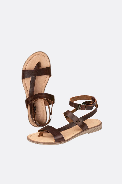 Zehentrenner Leder-Sandale