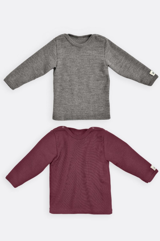 Langarmshirt Wolle/Seide
