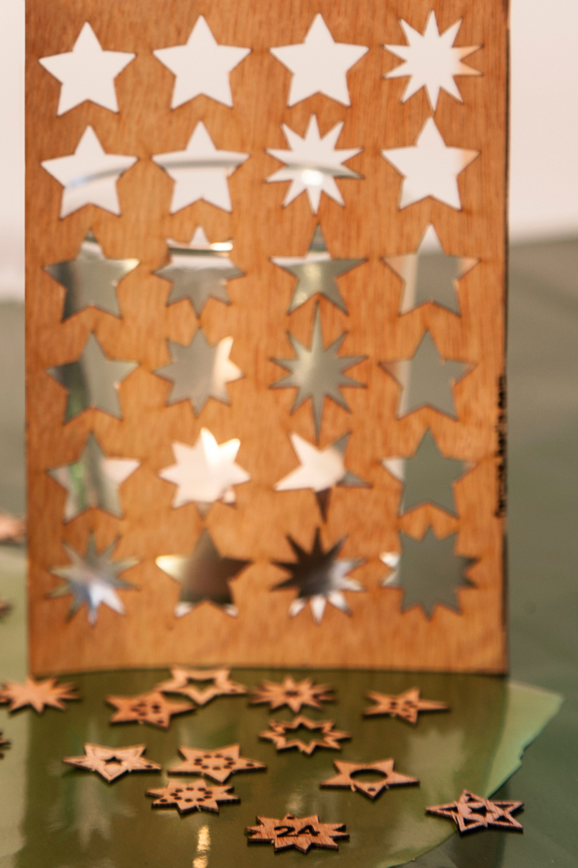 Holz Postkarte Adventskalender
