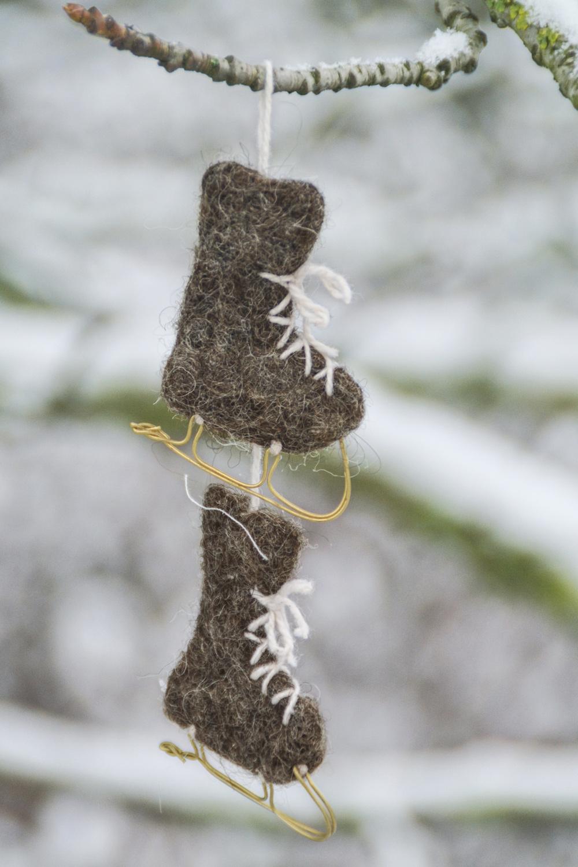 Schlittschuh aus Wollfilz