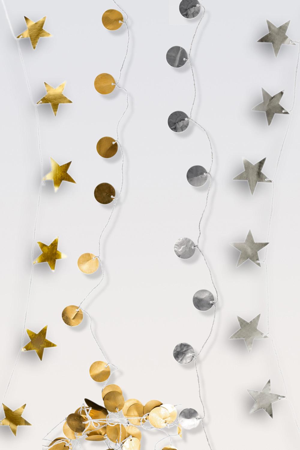 Metal Dots & Star Kette