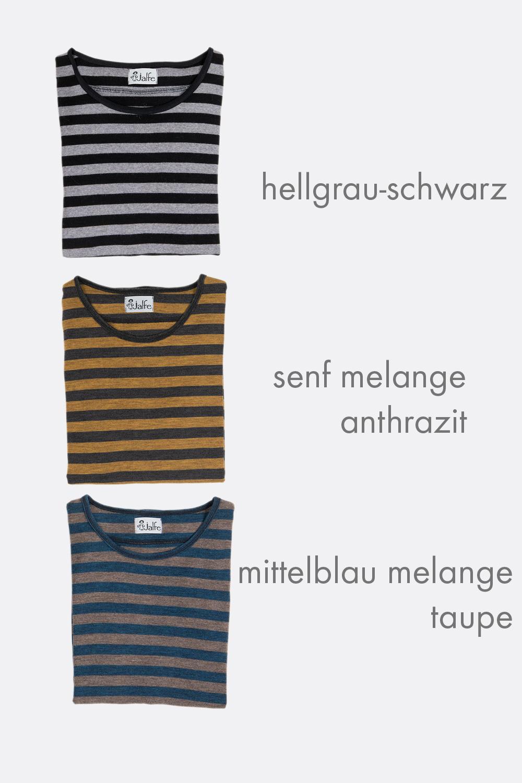 Schurwolljersey Streifenshirt