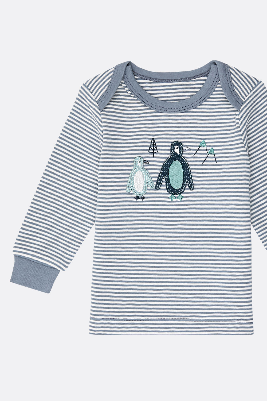 Baby-Ringelshirt Pinguine