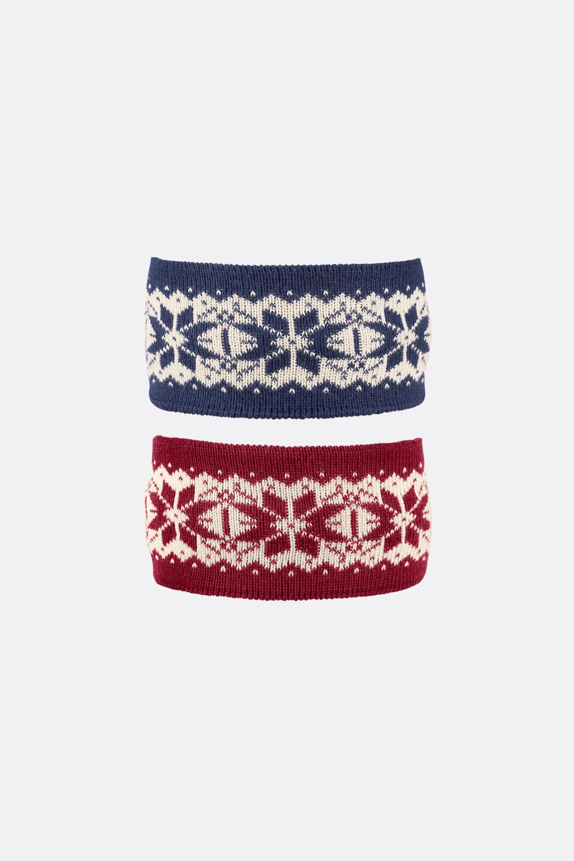 Wolle/Seide/Baumwolle Norweger Stirnband