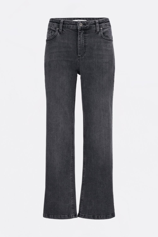 Verkürzte Black Denim Jeans