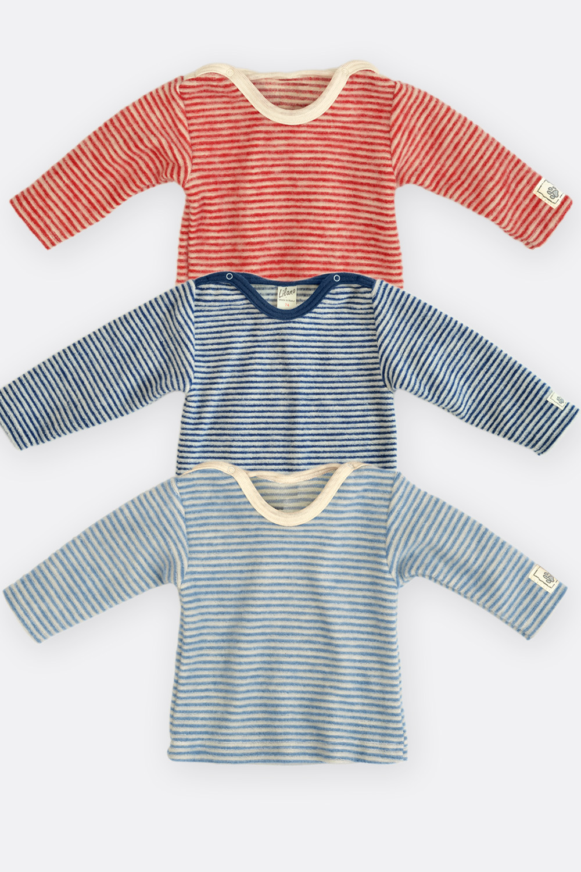 Ringel Wollfrottee Shirt 1/1-Arm