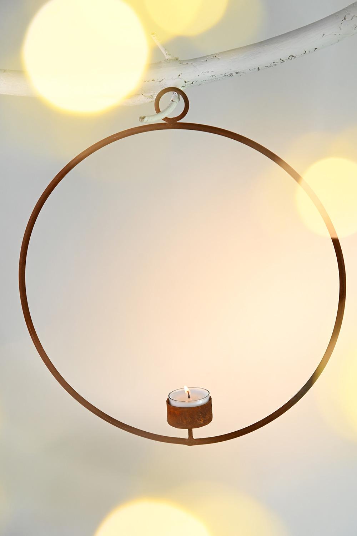 Eisenring Teelichthalter