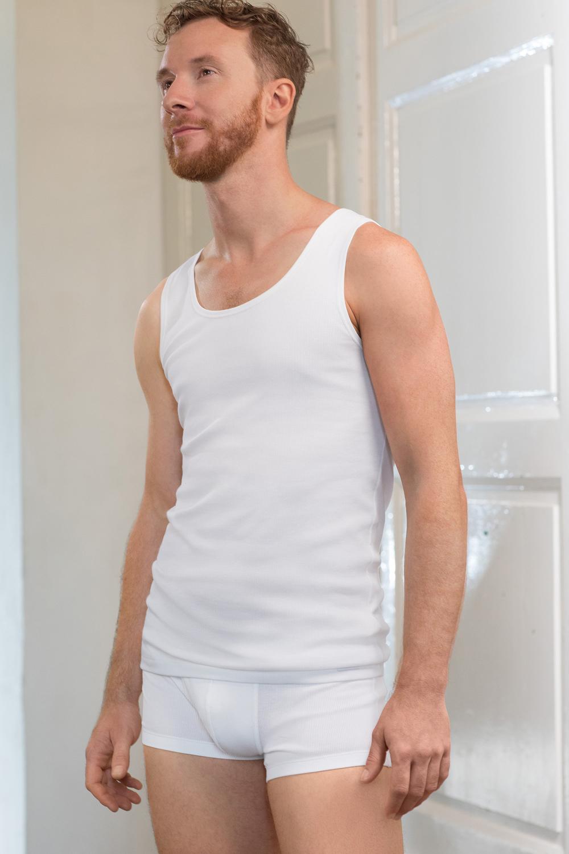 Herren Ripp Unterhemd