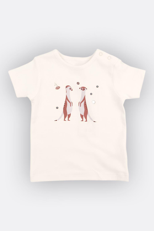 T-Shirt Ziege/Erdmännchen