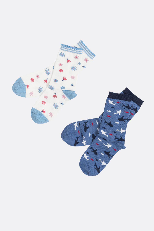 Gemusterte Socke