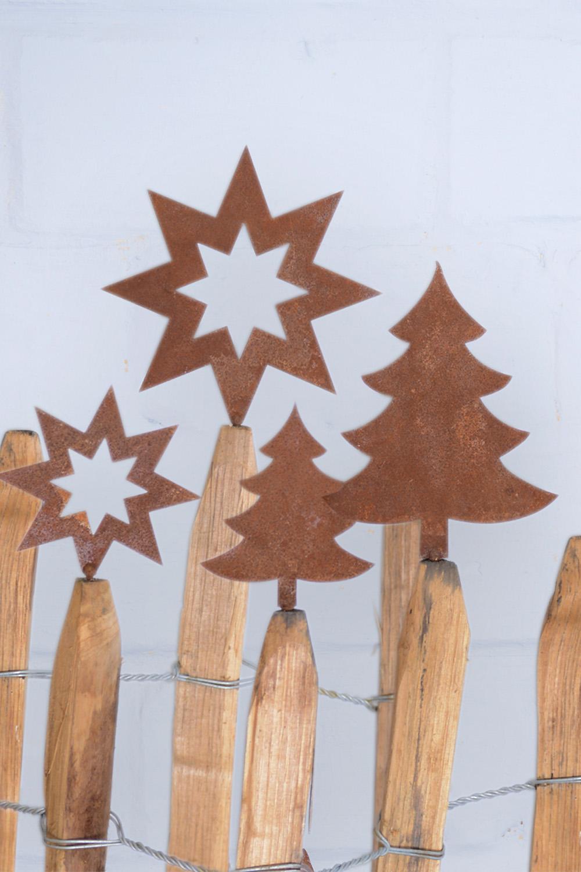 Stern & Baum aus Eisen zum Schrauben