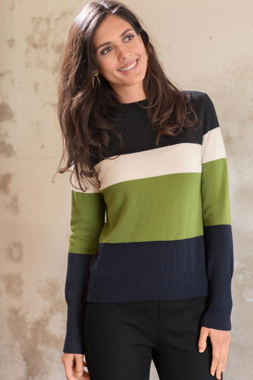 Schurwoll Colorblock Pullover