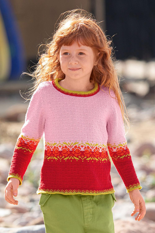 Pullover mit Rosenbordüre