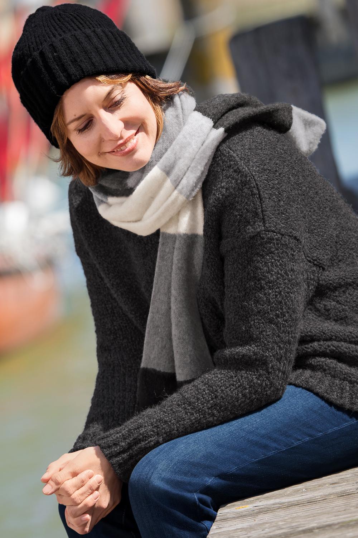 Lässiger Schurwoll-Alpaka Pullover