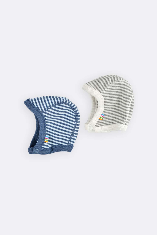 Babymütze, geringelt mit Druckern