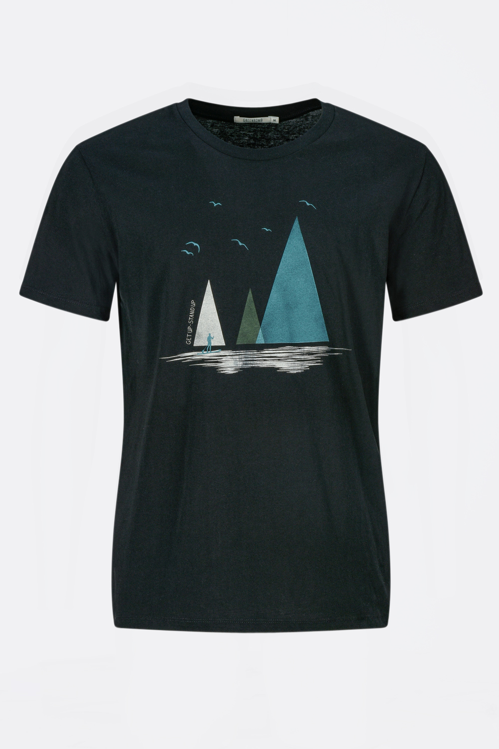 Herren T-Shirt Nature Lake