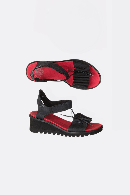Sandalette mit Raffung