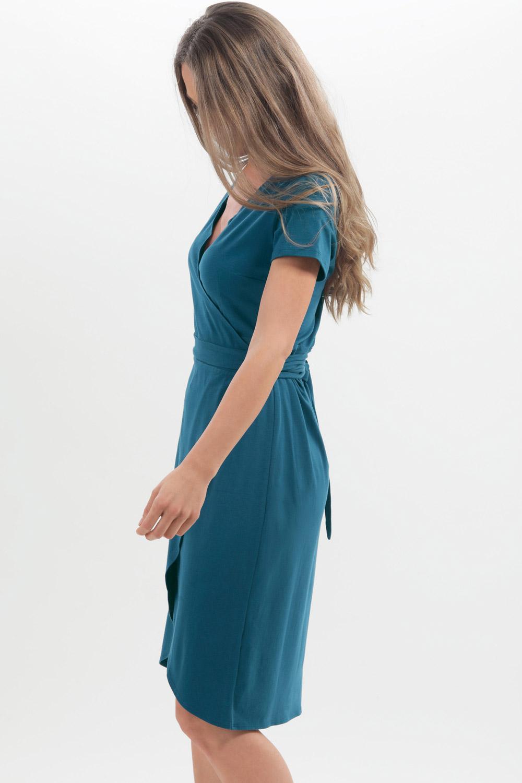 Jersey-Wickelkleid