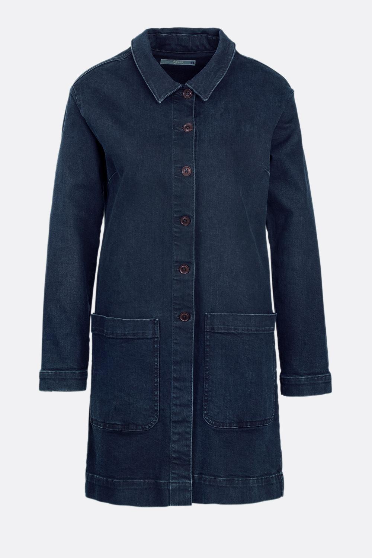 Jeans-Kurzmantel Blueblack