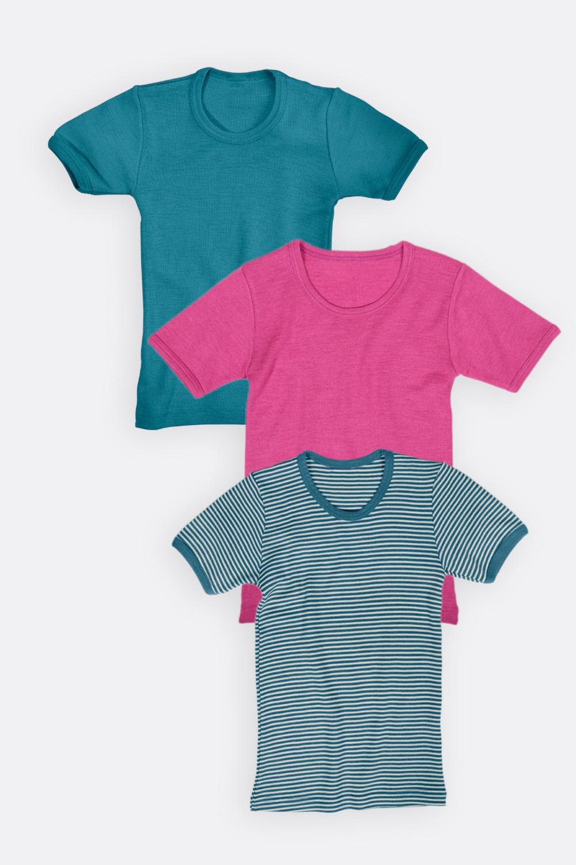 Wolle/Seide Shirt, 1/4-Arm