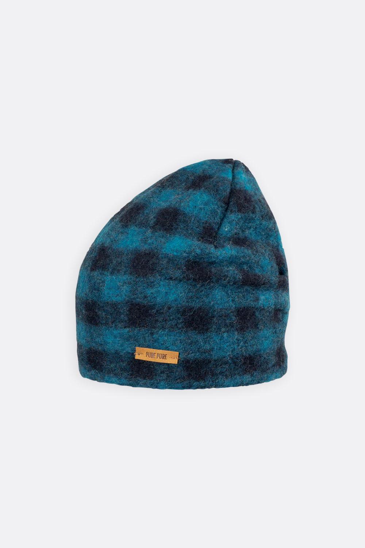 Wollplüsch-Baumwoll Mütze