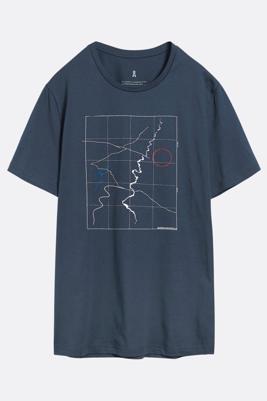 Herren T-Shirt Karte